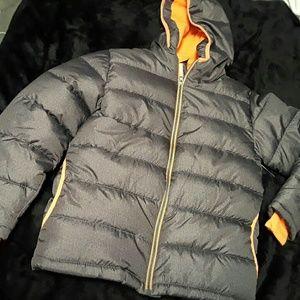 Nwot Grey and Orange Faded Glory Boy Puffer Jacket